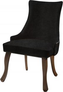 Cadeira Rocaille Preta Base Castanho - 50579 - Sun House