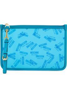 Moschino Bolsinha Com Logo - Azul