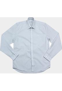 Camisa Lacoste Ml Regular Fit Listras Bolso Croco Surton Ch9619-21 - Masculino