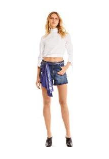 Bermuda Comfort Com Lenco Jeans