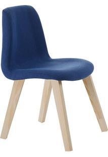 Cadeira Pinha F90 Veludo – Daf Mobiliário - Azul Marinho