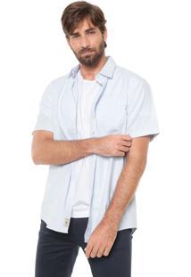 Camisa Timberland Reta Ss Pleasant River Oxfo Azul