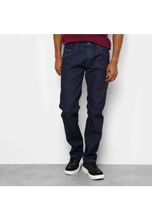 Calça Jeans Reta Preston Masculina - Masculino-Azul Escuro