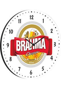 Relógio De Parede Brahma Branco