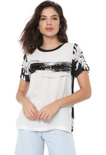 Camiseta Forum Progresso Branca/Preta
