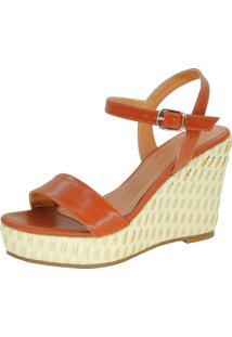 Sandália Infinity Shoes Anabela Juta Caramelo - Kanui