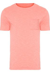 Camiseta Masculina Bolso A Fio - Laranja