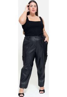Calça Utilitária Almaria Plus Size Tal Qual Bolso