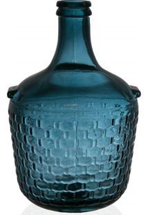 Garrafa Decorativa Em Vidro Azul Colonial 4 Litros
