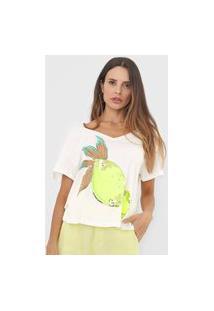 Camiseta Lança Perfume Limão Off-White