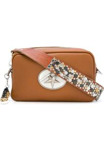 Golden Goose Embellished Rectangle Shoulder Bag - Marrom