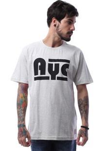 Camiseta Asphalt Ayc Double Stripe Masculina - Masculino-Mescla