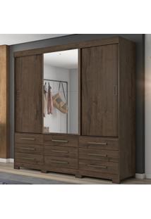 Guarda-Roupa Casal 3 Portas De Correr Nt5030 Café - Notavel