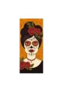Adesivo Decorativo De Porta - Caveira Mexicana - 2570Cnpt