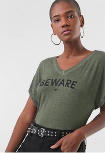 Camiseta Ellus Spray Beware Verde - Kanui