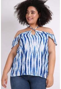 Blusa Tie Dye Plus Size Kauê Plus Size Feminina - Feminino
