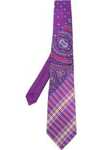 Etro Gravata Com Padronagem - Pink & Purple