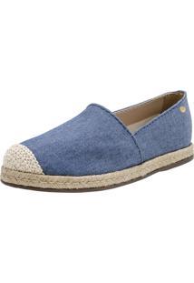 Alpargata Corazzi Leather Deluxe Jeans Cordas Azul