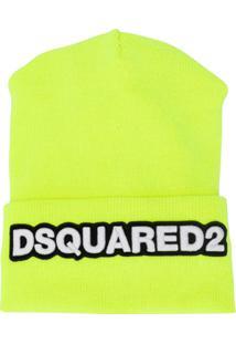 Dsquared2 Gorro Com Patch De Logo - Amarelo