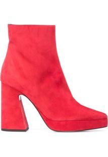 Proenza Schouler Ankle Boot De Camurça - Vermelho