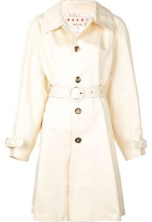 Marni Trench Coat Com Cinto - Neutro