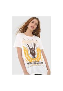 Camiseta Colcci Manifesto Off-White