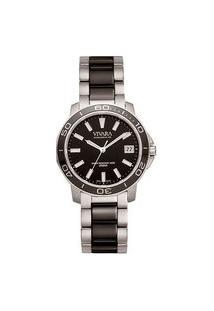Relógio Vivara Feminino Aço Prateado E Preto - Ds13155R2E-1