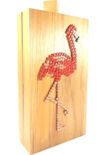Bolsa Carteira / Clutch Elisa Sanchez Madeira Flamingo Madeira