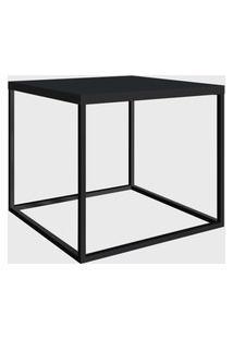 Mesa Quadrada Cube Lateral Preto/Preto Artesano