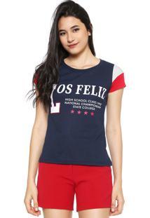 Camiseta Fiveblu Bicolor Azul-Marinho