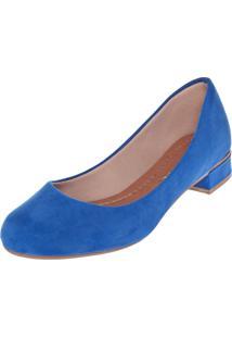 Scarpin Fiveblu Salto Baixo Grosso Azul