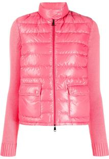 Moncler Maglia Padded Front Jacket - Rosa