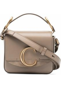 Chloé Bolsa Tiracolo C Ring Mini - Neutro