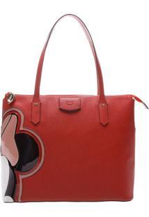 Bolsa Minnieâ® Com Recortes- Vermelha & Rosa- 28X34X1Arezzo & Co.