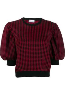 Red Valentino Blusa Jacquard - Vermelho