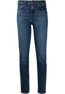 J Brand Calça Jeans Skinny Cintura Alta - Azul
