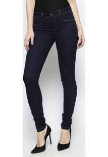 Jeans Low Com Pespontos - Azul Escuro -Lança Perfumelança Perfume