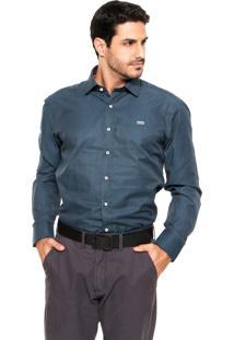 Camisa Mr. Kitsch Geométrica Azul