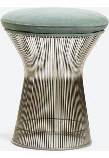 Banqueta Warren Platner Linho Impermeabilizado Cinza - Wk-Ast-43,
