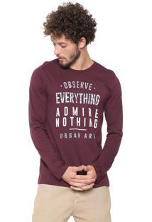 Camiseta Malwee Lettering Vinho