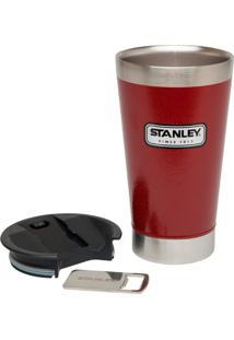 Copo Térmico De Cerveja Stanley 473 Ml Com Tampa E Abridor Garrafas Vermelho