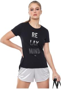 Camiseta Alto Giro Tule Recorte Preta