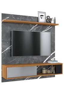 Painel Bancada Suspensa Para Tv Até 55 Pol. Com Espelho Ilhéus Grigio/