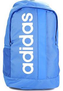 Mochila Adidas Linear Core - Unissex-Azul+Branco