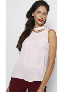 Regata Lisa Com Botões - Rosa Claro- Milioremiliore
