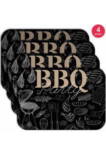 Jogo Americano Love Decor Wevans B B Q Kit Com 4 Pçs
