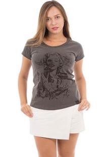 Camiseta Aes 1975 Hollywood Feminina - Feminino-Chumbo