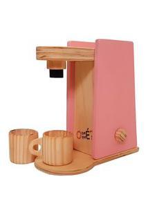 Cafeteira Infantil Com Caneca - O Que É O Que É - Madeira - Mundo Rosa