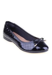 Sapatilha Shop Shop Shoes Biqueira Laço Cor:Pretotamanho:34 Preto