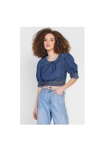 Blusa Jeans Forum Estonada Azul